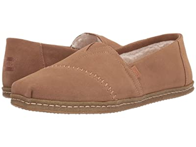 TOMS Alpargata (Toffee Suede with Faux Shearling) Men