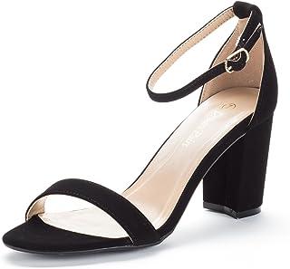 d6ad5498535 Amazon.com  Black - Heeled Sandals   Sandals  Clothing