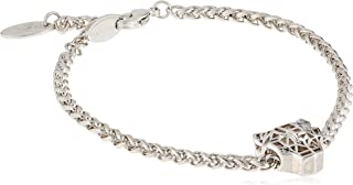 Fashion Bracelet Full Silver Color Bracelet with White Stones - JCFB00200100