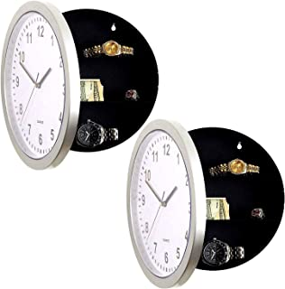 DL Wall Clock & Hidden Safe Box in One - 10inch Wall Safe Clock - Concealment Furniture with Hidden Compartments - Wall Mo...