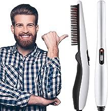 RYLAN Quick Hair Styler for Men Electric Beard Straightener Massage Hair Comb Beard Comb Multifunctional Curly Hair Straightening Comb Curler, Beard Straightener, Beard Straightener For Men(Black)