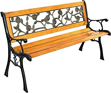 Park Bench Garden Metal Outdoor Furniture Benches Clearance for Patio Yard
