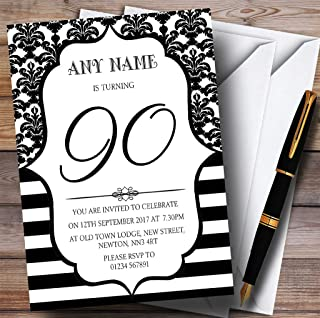 Best black damask invitation template Reviews