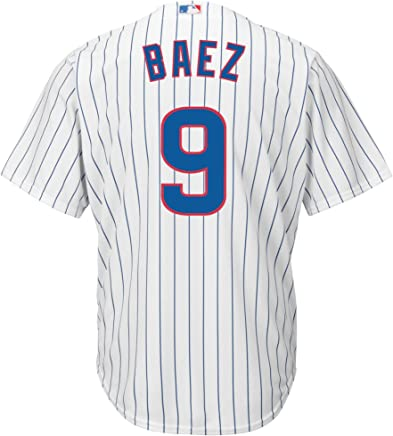 eb420707f6f Outerstuff Javier Baez Chicago Cubs #9 White Youth Cool Base Home Replica  Jersey