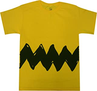 Peanuts Charlie Brown Double Sided Zig Zag Costume Youth T-Shirt