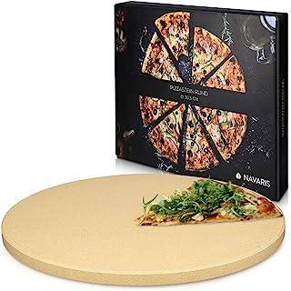 Navaris Pierre à Pizza pour Four XL - Pierre Pizza Ronde Ø 30,5 cm en Cordiérite - pour Four Traditionnel au Bois Barbecue...