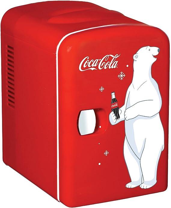 Coca-Cola KWC-4 6-Can Personal Mini 12V DC Car and 110V AC Cooler