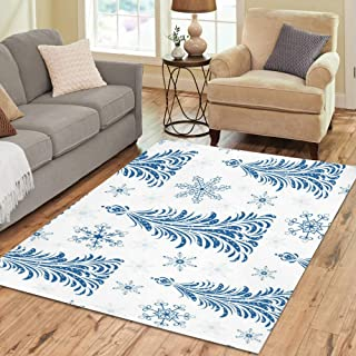 InterestPrint Sweet Home Stores Collection Custom Christmas Trees Area Rug 7'x5' Indoor Soft Carpet