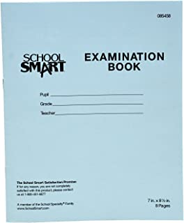 School Smart Examination Blue Book with 8 Pages, 7 x 8-1/2 Inches, Pack of 100 Books