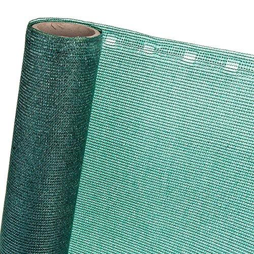 HaGa® Zaunblende 3m x 1m (Meterware) - 85% Schattierwirkung in grün - effektiver Sichtschutz für Zaun und Terrasse - Sonnenschutzgewebe Tennisblende Windschutz - Sonnenschutz