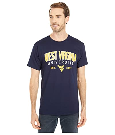 Champion College West Virginia Mountaineers Jersey Tee (Navy 3) Men