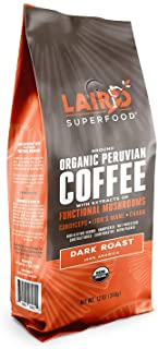 Laird Superfood Dark Roast Ground Mushroom Coffee