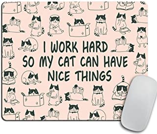 Mouse Pad Mousepad Cat Mouse Pad Funny Coworker Gift Office Supplies Cat Lover Gift Pink Office Desk Accessories Cubicle D...
