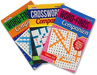 """Word find Word Search & Crossword Puzzle Books (3 Pack) - Digest Size 8.5"""" x 5.5"""" Great for Travel"""
