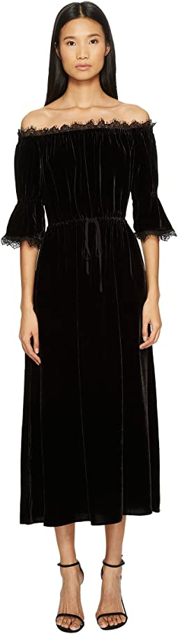 The Kooples Long Velvet Dress