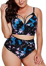 2019 Women's Plus Size Swimsuit High Waisted Ruffles Push up Halter Bikini Mermaid Costumes Set