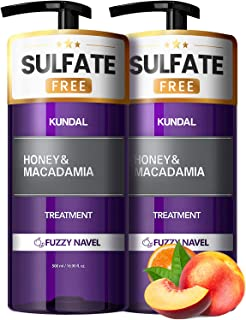 KUNDAL HONEY&MACADAMIA Hydro-Intensive Protein Premium Nature Hair Treatment (Fuzzy Navel) 16.9oz x2 bottles