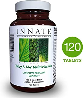 INNATE Response Formulas - Baby & Me Multi, Prenatal & Postnatal Support for Mother & Baby with Folate, 120 Tablets