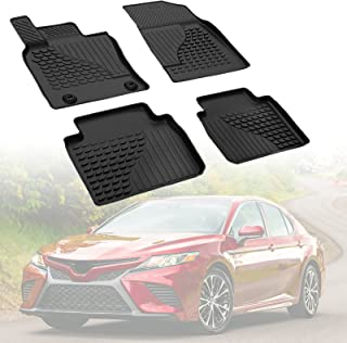 Floor Mat Liner Compatible with 2018 2019 2020 2021 Camry(Non-Hybrid), Medesasi TPE Rubber OEM Front & 2nd Seat Black All-Weather Guard Heavy Duty Floor Mats Liners, 3D Laser Custom fit