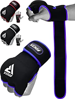 RDX Boxing Hand Wraps Inner Gloves for Punching - Neoprene Padded Fist Protection Bandages Under Mitts with Quick Long Wri...