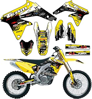 Team Racing Graphics kit compatible with Suzuki 2001-2007 DRZ 125, SCATTER