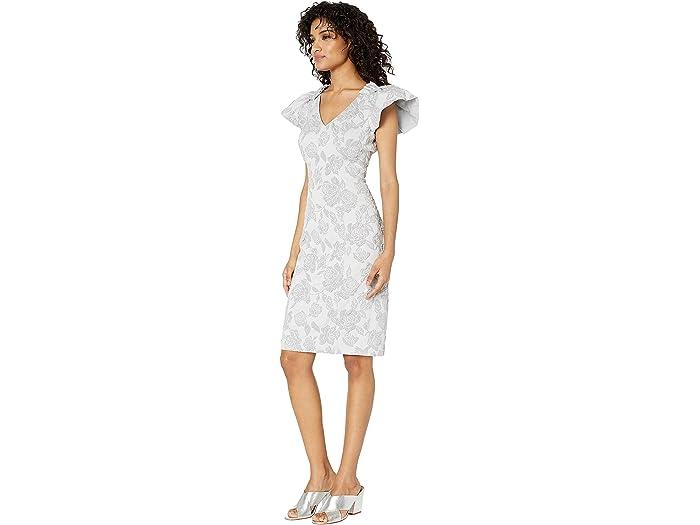Badgley Mischka St. Jacquard Sheath - Women Clothing