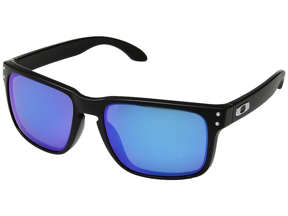 Oakley Holbrook (Matte Black w/ Prizm Sapphire Polar) Sport Sunglasses
