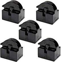 HQRP 5-Pack QP2-4.7 4.7 Ohm 1-Pin PTC Starter/Start Relay Replacement for Mini Fridges, Compact Refrigerators, Beverage & Wine/Beer coolers, Deep Freezers, Beer/Wine Refrigerators + Coaster