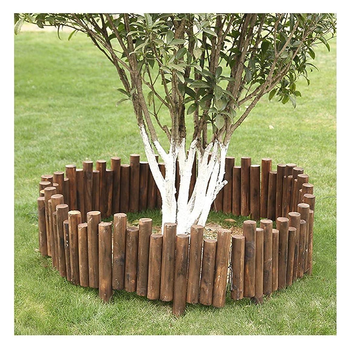 政治石鹸ポーターZHANWEI 庭のフェンス 木製 花壇 風景 デコラティブ ガーデンエッジ 垣 柵、 5サイズ (Color : 1pc, Size : 100x15/20cm)