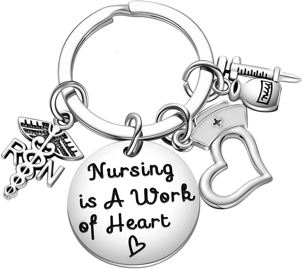 Nurse appreciation Nurse Valentine gifts Thank you gifts for nurses Heart keychain Registered nurse gifts LPN gifts Nurse keychain