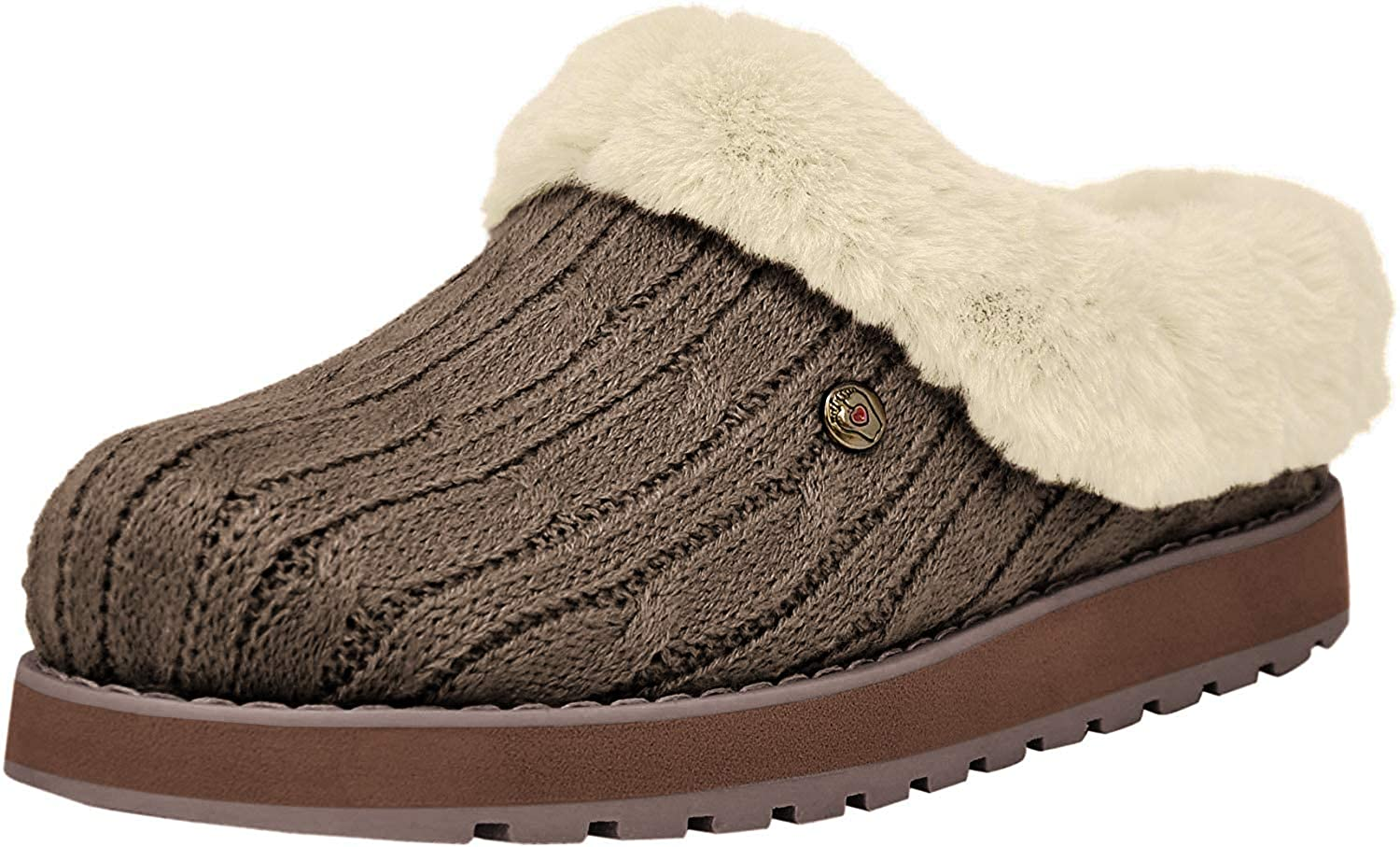 BOBS from Skechers Women's Keepsakes Ice Angel Slipper, Taupe/Natural, 6 M US