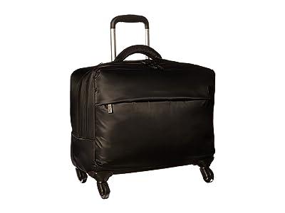 Lipault Paris Plume Business 17 Spinner Tote (Black) Tote Handbags