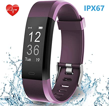 Smart Fitness Band, HolyHigh YG3 Plus/115Plus Fitness Tracker Watch with Heart Rate Monitor Sport Activity Tracker Band with Step Counter Sleep Monitor Call SMS Notifications for Men Women