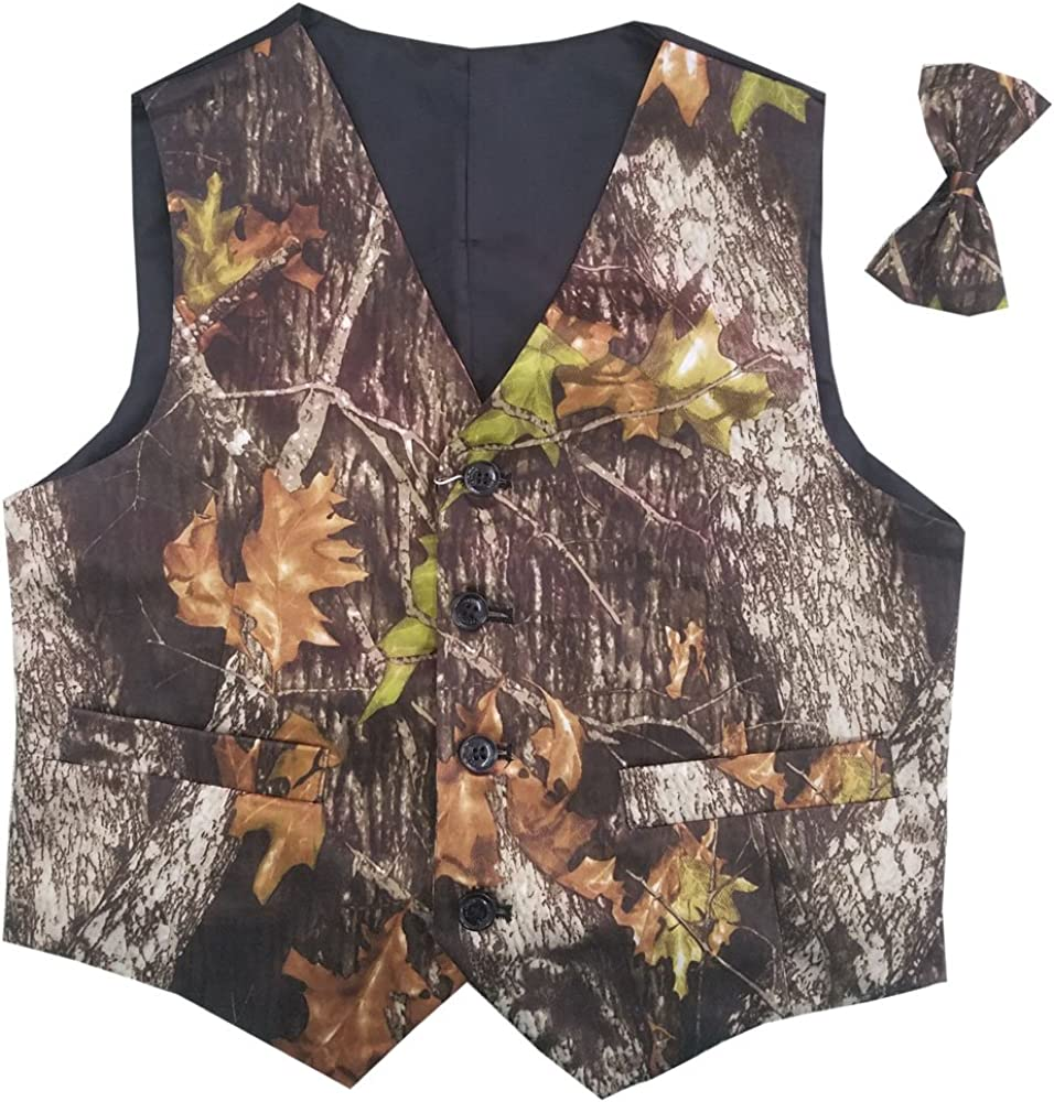 VSTEXTILE Camouflage Vests with Sale item Tie Wear Groom for camo Wedding Outlet ☆ Free Shipping