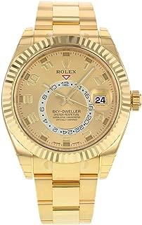 NEW Rolex Sky Dweller 18K Yellow Gold Mens watch 326938