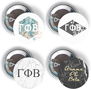 Gamma Phi Beta Sorority Marble Variety Pack of Buttons Pin Back Badge 2.25-inch - Marble Pack