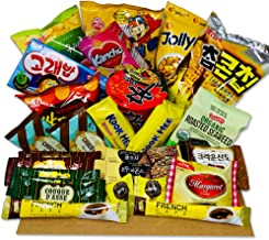 DANKONG Korean Snack Box - 25 Count of Variety Assorted Individual Wrapped Essentials Sample Packs of Candy, Snacks, Chips, Ramen, Cookies, Treats for Men, Women, Kids, Children, College Students