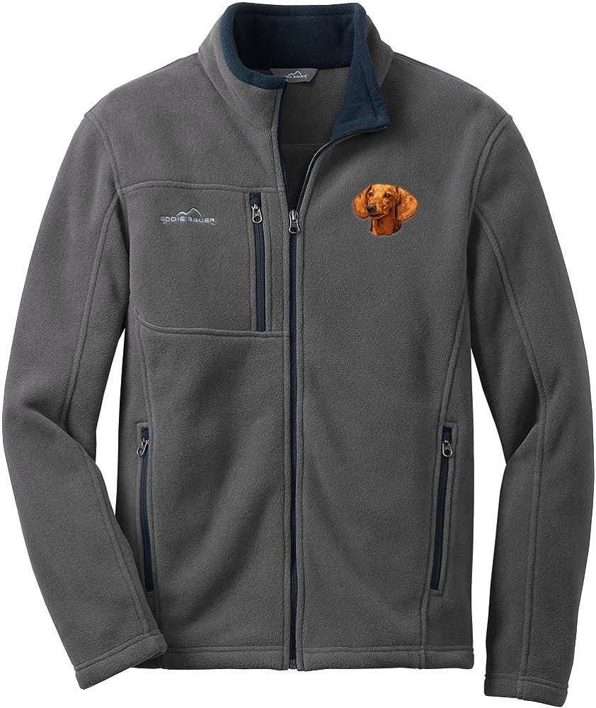 Cherrybrook Gray Dog Breed Embroidered Mens Eddie Bauer Fleece Jacket (All Breeds)