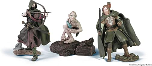 2004 - New Line / Play Along - Lord of the Rings : Armies of Middle Earth - The Capture of Smeagol with Faramir / Smeagol / Gondorian Ranger Bowman - Soldiers & Scenes - Battle Scale Figures - Out of Production - Limited Edition - Collectible