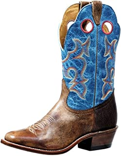 BO-4736-E American Boots – Men's Cowboy Boots – Leather – Blue/Brown