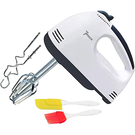 JONTUS 260 watt Hand Blender Mixer Electric Egg Beater For Cake Making and Whipping Cream with free silicon oil brush and spatula for kitchen