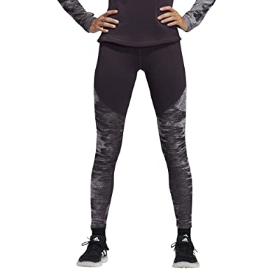 adidas Alphaskin Cold Weather Long Tights (Noble Purple/Black) Women