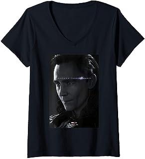Mujer Marvel Avengers: Endgame Loki Avenge The Fallen Poster Camiseta Cuello V