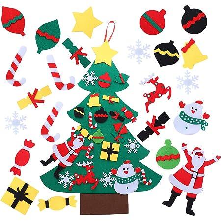 Aytai DIY árbol de Navidad de Fieltro con Adornos para los ...