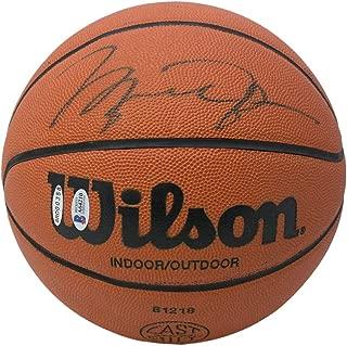 Michael Jordan Chicago Bulls Signed Wilson Basketball UDA BAS LOA A64210