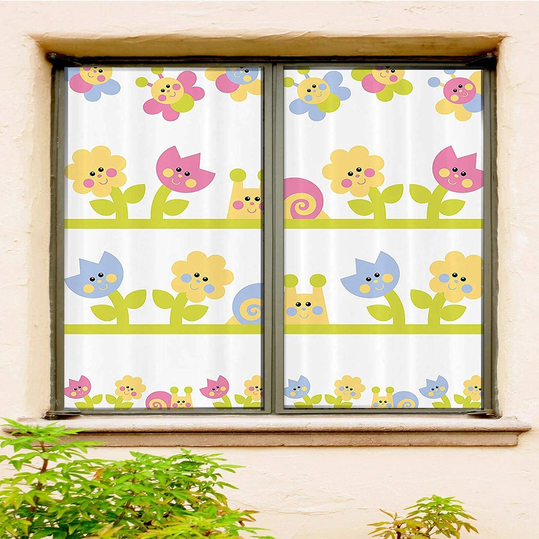store Kids 3D Customized Window Film 2 PCS Baby Set Y Light Blue Green Max 88% OFF