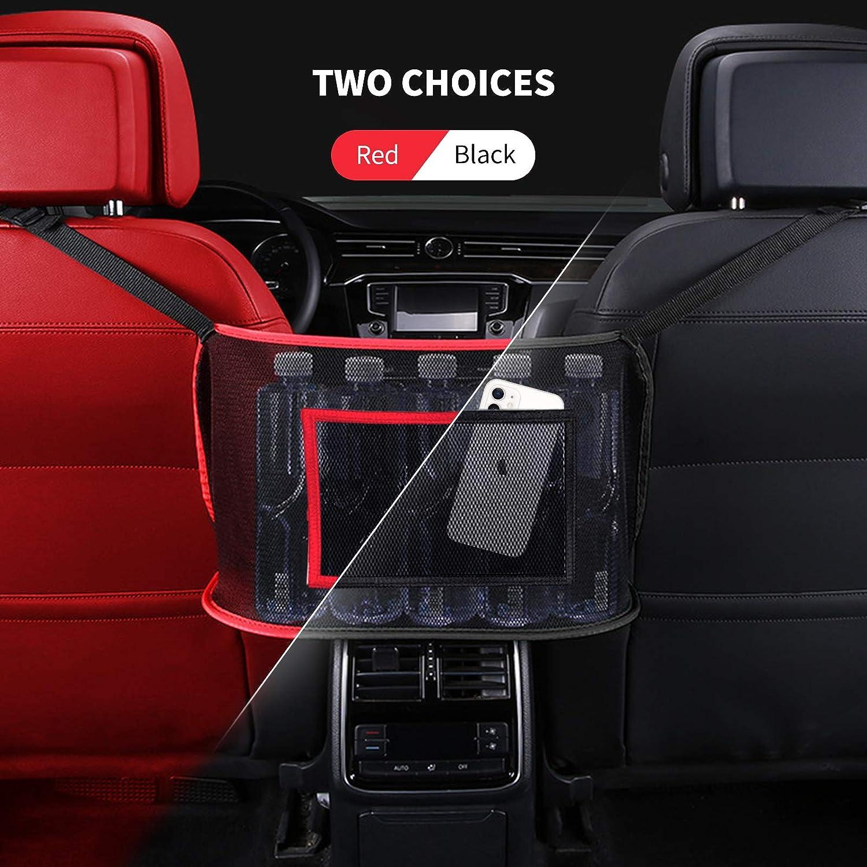 Driver Storage Netting Pouch,Cargo Tissue Purse Holder Pocket Ordinary, Black Car Net Pocket Handbag Holder,Seat Back Net Bag,Barrier of Backseat Pet Kids