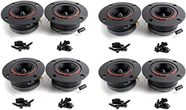 """$48 » Pyramid TW18BK 3.25"""" 300W Pro Horn Car Audio Tweeters Speaker Titanium (4 Pairs)"""