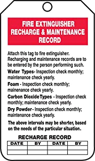 Accuform Signs TRS211CTP Fire Extinguisher Tag, Legend
