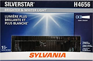 SYLVANIA - H4656 SilverStar Sealed Beam Headlight - High Performance Halogen Headlight Replacement (100x165), Brighter & Whiter Light for Added Clarity Downroad and Sideroad, (Contains 1 Bulb)